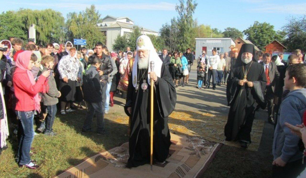 Владика Онуфрій і Патріарх Філарет