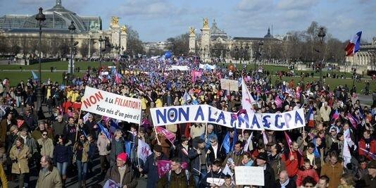 Франція-Париж; 2 лютого 2014 року; Протести