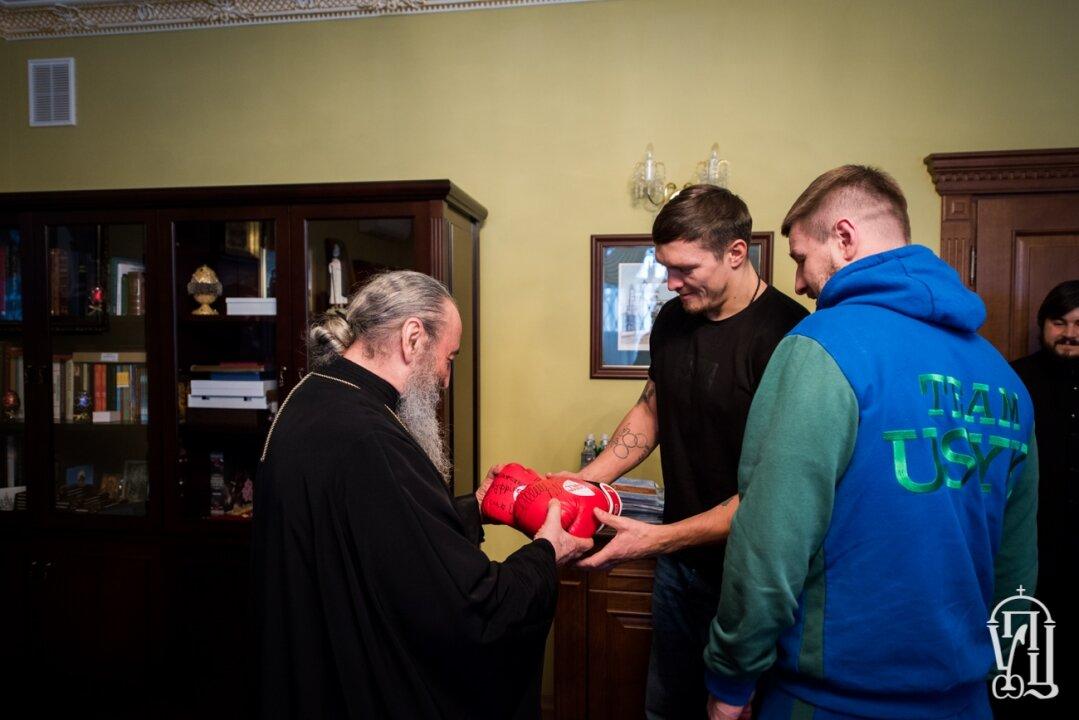 Митрополит Онуфрій зустрівся з боксером Олександром Усиком
